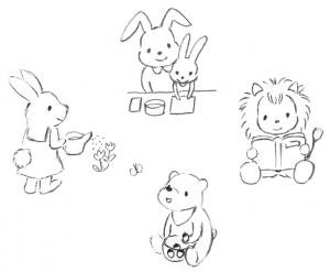 つばめの家/動物のイラスト